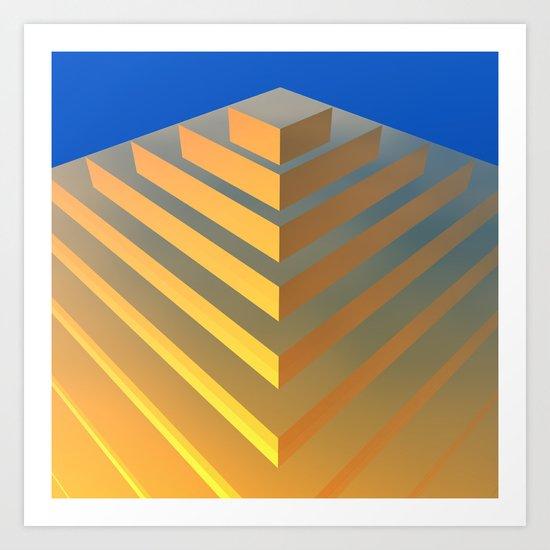Golden Pyramid Art Print
