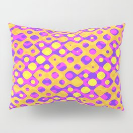 Brain Coral Pink Banded Cross Small Polyps - Coral Reef Series 029 Pillow Sham