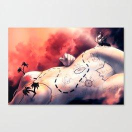 Coeur de prirate Canvas Print