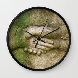 Tombstone Handshake Wall Clock