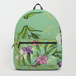Abstract flowers with background Backpack