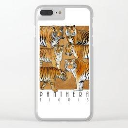 Tigers - Panthera Tigris Clear iPhone Case