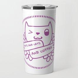 TATS AND CATS AND COFFEEE Travel Mug