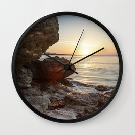Morning By The Sea Wall Clock