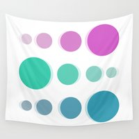 bubbles Wall Tapestries featuring Bubbles by Cs025