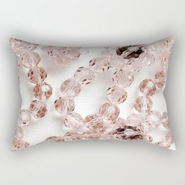 PLOOM - Lucky Pink Crystals in Bloom Rectangular Pillow