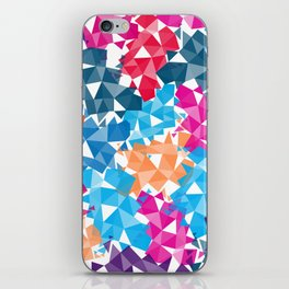 Colorful geometric Shapes iPhone Skin