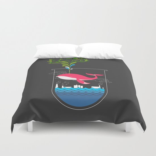 Nature Whale Duvet Cover