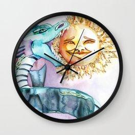 Eclipse Dragon Sun Eater Wall Clock