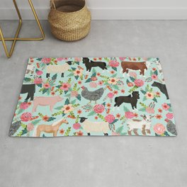Farm gifts chickens cattle pigs cows sheep pony horses farmer homesteader Rug