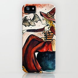 Red Moon Witch iPhone Case