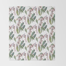Australian eucalyptus tree branch Throw Blanket