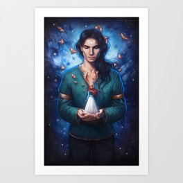 Muse of Nightmares Art Print
