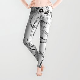 rabbits and flowers parties Leggings