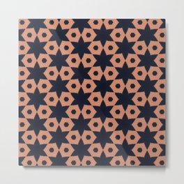 corail and black fabric Metal Print