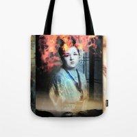 geisha Tote Bags featuring Geisha by Andre Villanueva