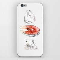 trout iPhone & iPod Skins featuring trout by singingsaw