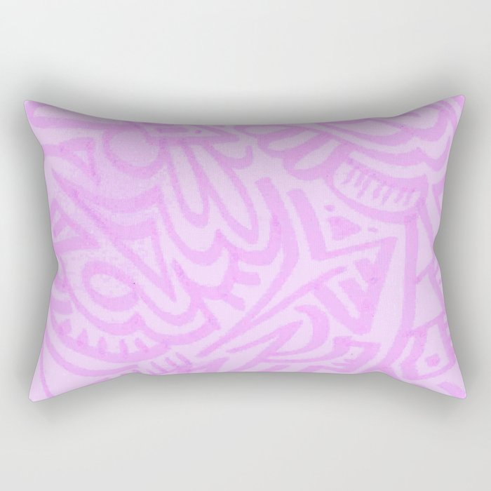 pink lady pattern Rectangular Pillow
