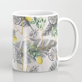 Pattern triangles with lemons Coffee Mug
