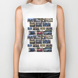Historic Car Collage Biker Tank