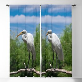 Great Egret Two - Utah Blackout Curtain