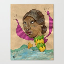 Crying Sea Monster Canvas Print