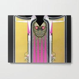 "Art Deco Design ""Twin Sisters"" by Erté Metal Print"