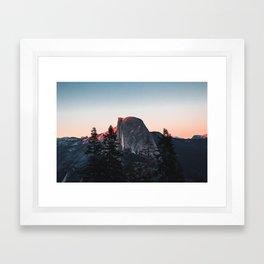 Last Light at Yosemite National Park Framed Art Print
