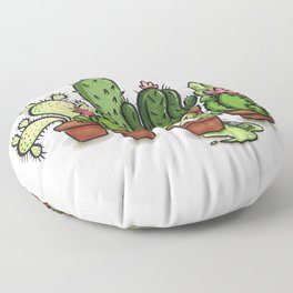 Green - Cactus and Hedgehog Floor Pillow