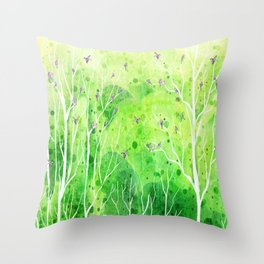Beautiful Forest Throw Pillow