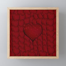 Sangria Hearts Framed Mini Art Print