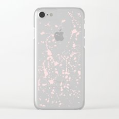 Splat Black on Pink Clear iPhone Case