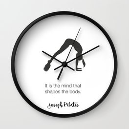 Pilates Art Wall Clock