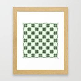 Hippie Green Polka Dots Framed Art Print