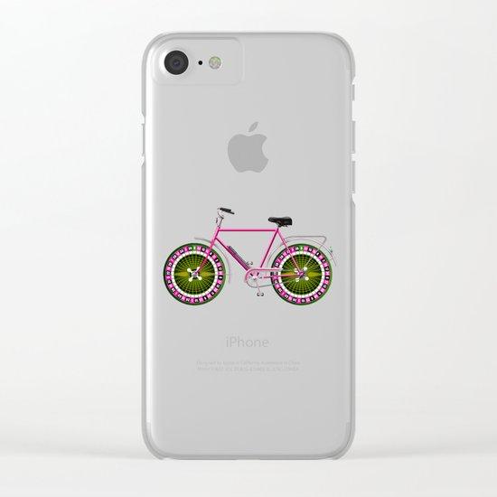 Rulette bike Clear iPhone Case