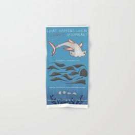 What Happened When Sharks Disappear (Hammerhead) Hand & Bath Towel
