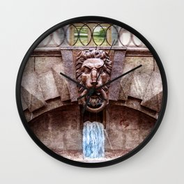 Weeping lion Wall Clock