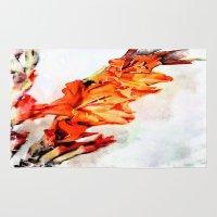 artsy Area & Throw Rugs featuring gladioli Artsy by Artsy Arts By Rosanna.