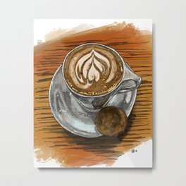 Latte at Craftwork Coffee Metal Print