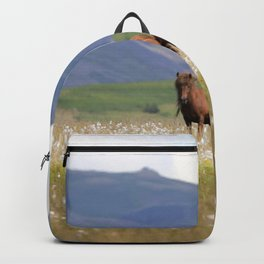Watercolor Horse 15, Icelandic Pony, Höfn, Iceland, Me and the Baby Backpack