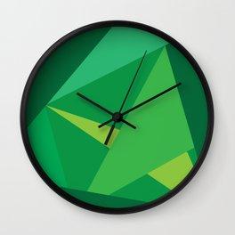 Green Fractal Pattern Wall Clock