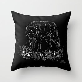 Yee Naaldlooshii Throw Pillow