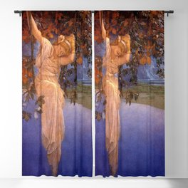 'Reveries' - Girl on a Swing on top of the World by Maxfield Parrish   Blackout Curtain