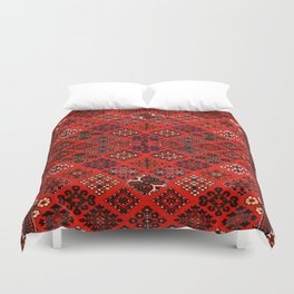-A30- Red Epic Traditional Moroccan Carpet Design. Duvet Cover