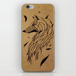 Fall Wolf iPhone Skin