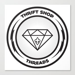 Thrift Shop Threads Button_Diamond Canvas Print