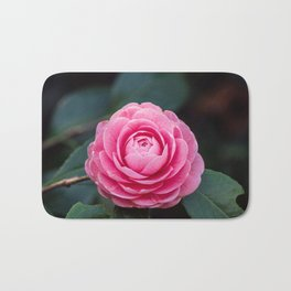 Pink Perfection Camellia Japonica Spring Bloom Bath Mat