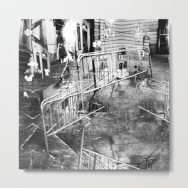 Summer space, smelting selves, simmer shimmers. 21, grayscale version Metal Print