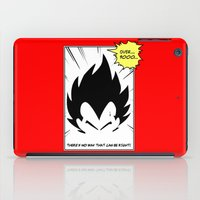 dragonball iPad Cases featuring IT'S OVER 9000 (Dragonball, Vegeta)  by SOULTHROW