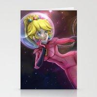 princess peach Stationery Cards featuring Princess Peach by Luiz Raffaello de Negreiros